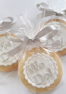 Wedding Favour Biscuits 'We Do!'